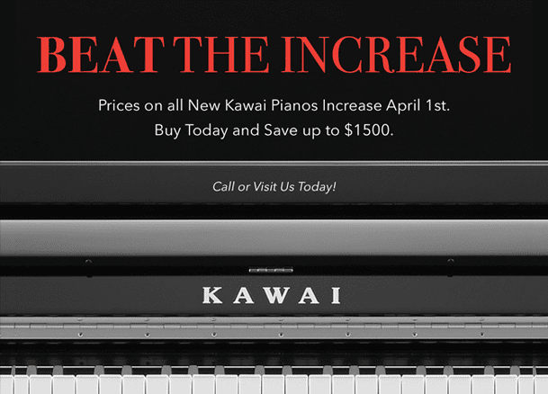 Kawai Beat the Increase Sale - Turners Keyboards