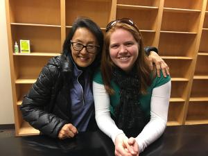 Jolene with Dr. Clara Park from Augusta University
